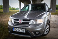 Fiat Freemont SUV under the highway overpass in Poland Royalty Free Stock Photo