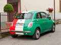 Fiat Maggiore in Italian flag colours Royalty Free Stock Photo
