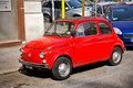 Fiat rome italy april red car on april in rome italy one of the europe famous vintage cars the little Royalty Free Stock Photo