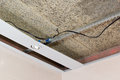 Fiber mat and suspended ceilings and electrical wiring Royalty Free Stock Images
