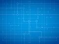 Fiber Optic Blue Stock Image