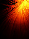 Fiber optic in fire red Royalty Free Stock Photo