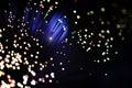 Fiber optic light effect Royalty Free Stock Photo
