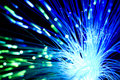 Fiber optics Stock Image