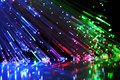 Fiber optics close up of Royalty Free Stock Image