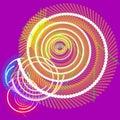 Fiber optics data spiral Royalty Free Stock Photography