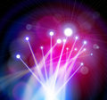Fiber Optics Lights Stock Images