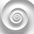 Fibonacci spiral white abstract background Royalty Free Stock Photo
