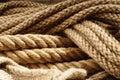A fibra ropes o close up Imagem de Stock Royalty Free