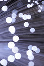 Fibre optics abstract black background Stock Images