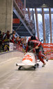 Fibt viessmann bobsleigh skeleton world cup sochi russia february on february in sochi russia center luge sanki team canada on Royalty Free Stock Photo
