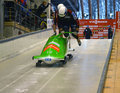 Fibt viessmann bobsleigh skeleton world cup sochi russia february on february in sochi russia center luge sanki team germany on Stock Images