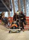 Fibt viessmann bobsleigh skeleton world cup sochi russia february on february in sochi russia center luge sanki team germany on Royalty Free Stock Photography