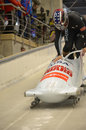 Fibt viessmann bobsleigh skeleton world cup sochi russia february on february in sochi russia center luge sanki team usa on track Royalty Free Stock Photos