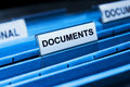 Fichier de documents Photo stock