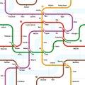 Fictional metro map seamless pattern Royalty Free Stock Photo
