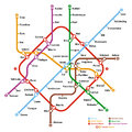 Fictional metro map vector illustration Stock Photo