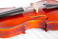 Fiddle a and musical notebook Royalty Free Stock Images