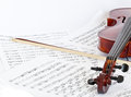 Fiddle a and musical notebook Royalty Free Stock Photo