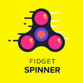 Fidget spinner tow icon in flat vector design. Trendy hipster ha