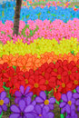 Field of colorful pinwheels. Royalty Free Stock Photo