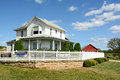 Field of Dreams House and Barn Royalty Free Stock Photo