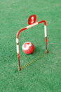 Field exercise croquet game Royalty Free Stock Photo