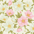 Field flover pattern flower seamless floral vintage colorful background for you scrapbook and design Royalty Free Stock Photos