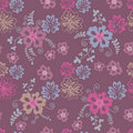 Field  flowers seamless pattern Royalty Free Stock Photography