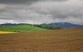 Field and hills near Zilina. Slovakia