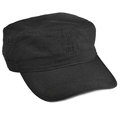Field patrol cap macro closeup, isolated large detailed black Royalty Free Stock Photo