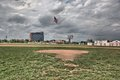 Field at Tiger Stadium in Detroit Michigan Royalty Free Stock Photo