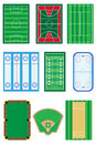 Fields for sports games vector illustration isolated on white background Royalty Free Stock Photography