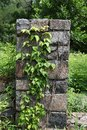 Fieldstone Pillar with Ivy Royalty Free Stock Images