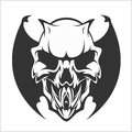 Fierce Gargoyle-Fantasy Winged Beast Royalty Free Stock Photo