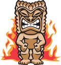 Fierce Warrior Tiki Stock Photo