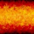 Fiery abstract triangle background horizontal red orange scattered triangles vector with blackout at top and bottom sides Royalty Free Stock Photo