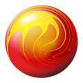 Fiery ball Stock Photography