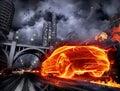 Ohnivý auto