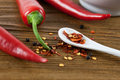 Fiery chili powder Stock Photos