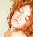 Fiery Curls Royalty Free Stock Photo