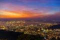 Fiery Dawn Upon Penang Island