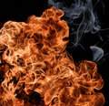 Fiery flames Royalty Free Stock Photography