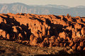 Fiery Furnace Formation at Arches National Park Royalty Free Stock Photos