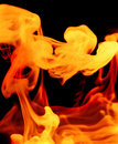 Fiery gaseous forms Stock Image