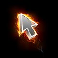 Fiery Mouse Pointer Arrow Royalty Free Stock Photo