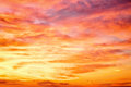 Fiery orange sunset sky beautiful Royalty Free Stock Images