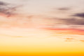 Fiery orange sunset sky in the winter Stock Photo