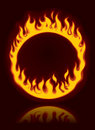Fiery ring Stock Photo
