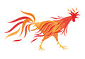 The Fiery rooster Royalty Free Stock Photo